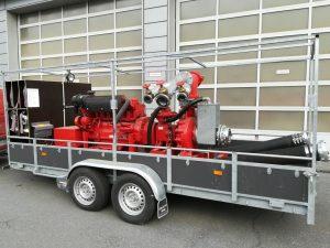 1x mobile Sechszylinder-Dieselpumpe 4.160 l/min, 5 bar (Bj.2005)